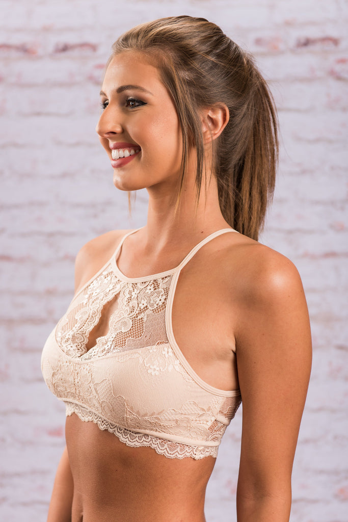 Swoon You'll See Bralette, Nude
