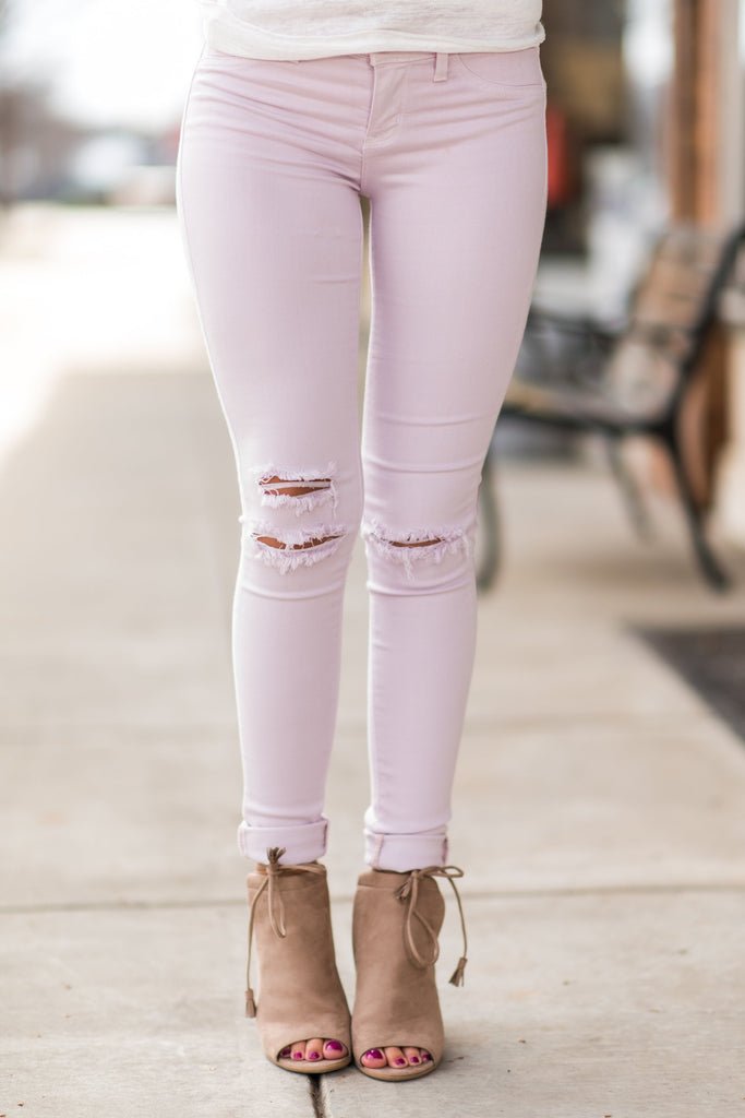 Pick Your Poison Skinny Jeans, Baby Pink