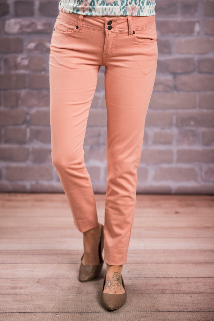 Just Watch Skinny Jeans, Apricot