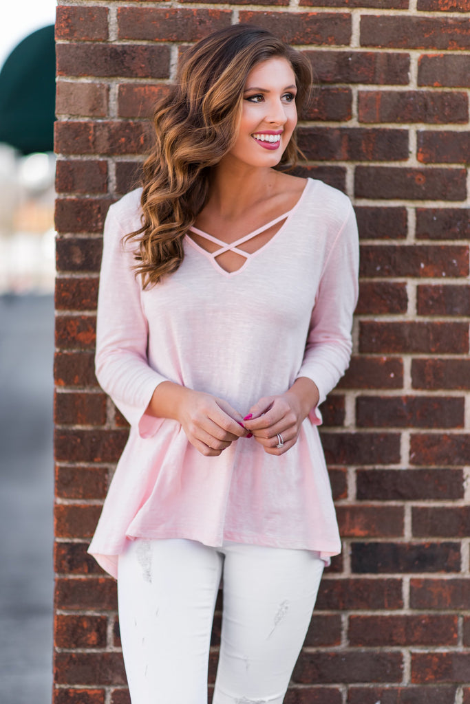 Darling Dreams Top, Baby Pink