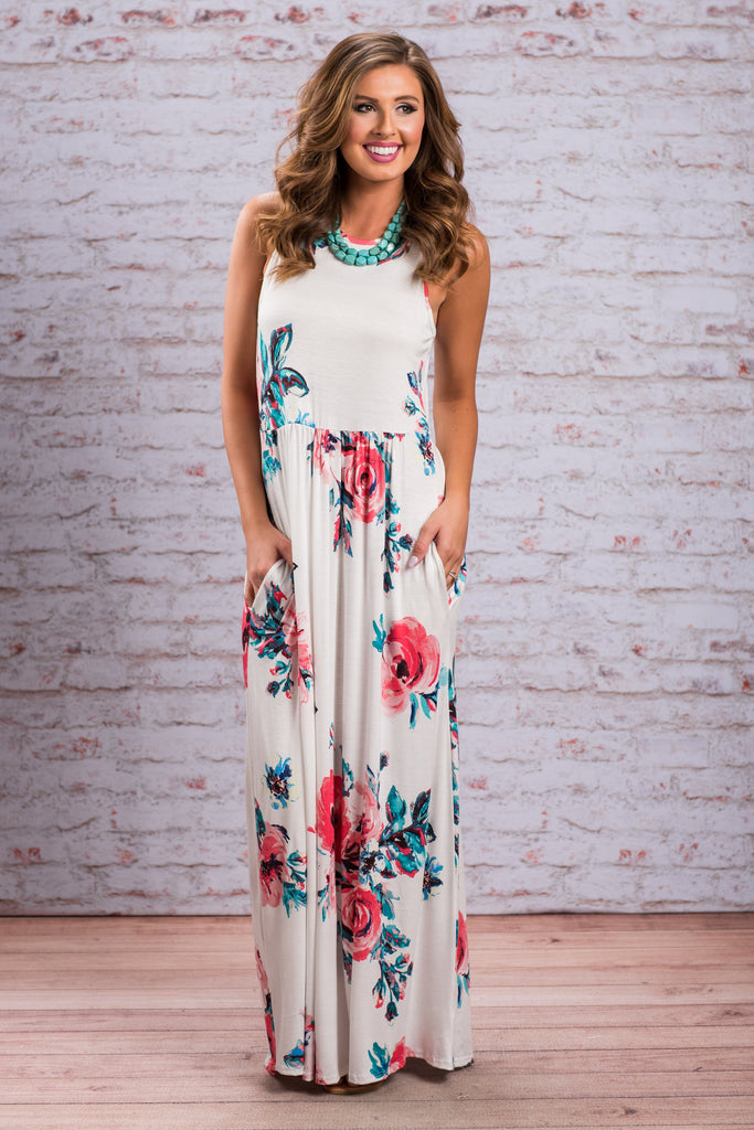 Beauty Abounds Maxi Dress, Off White