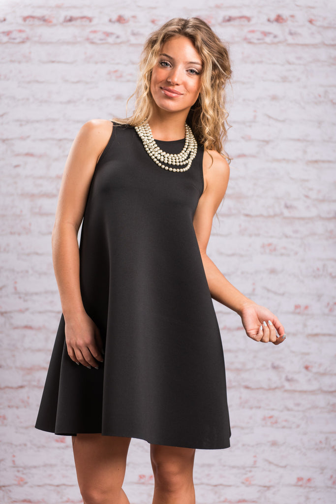 Simply Square Dress, Black