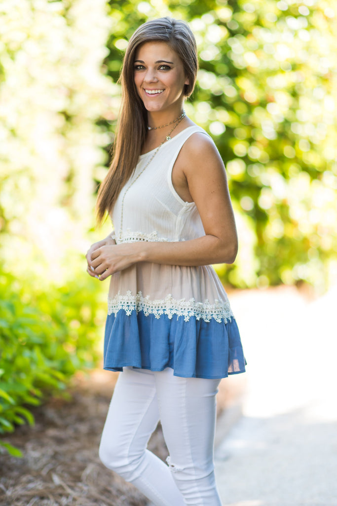Fun And Frills Top, Serenity
