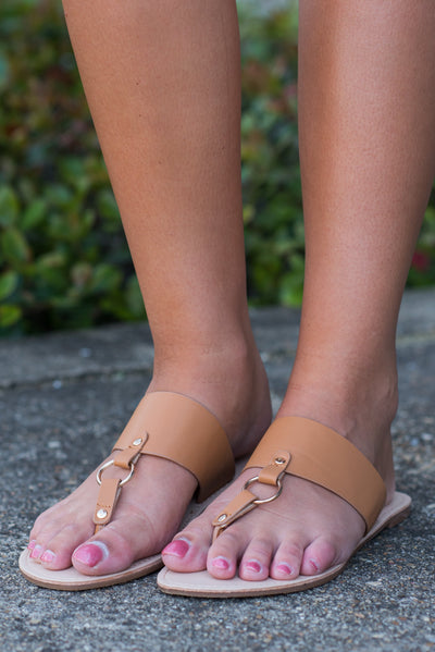 Lead The Way Sandals, Tan