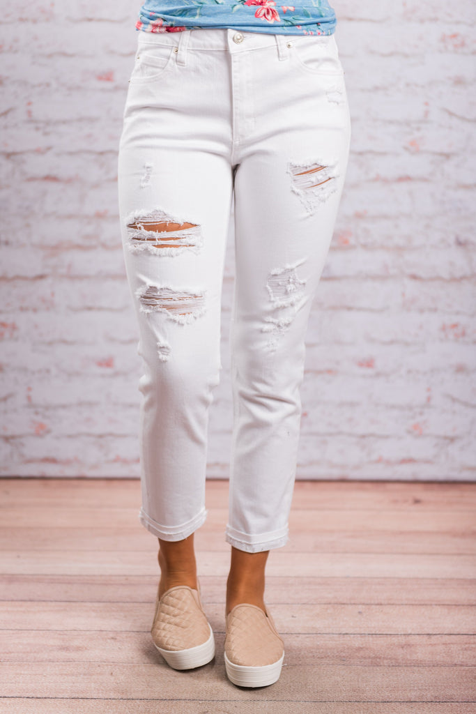 Not Your Boyfriend's Skinny Jeans, White
