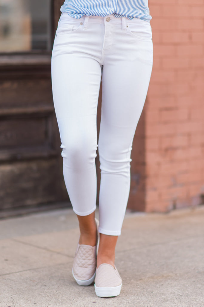On The Go Skinny Jeans,White