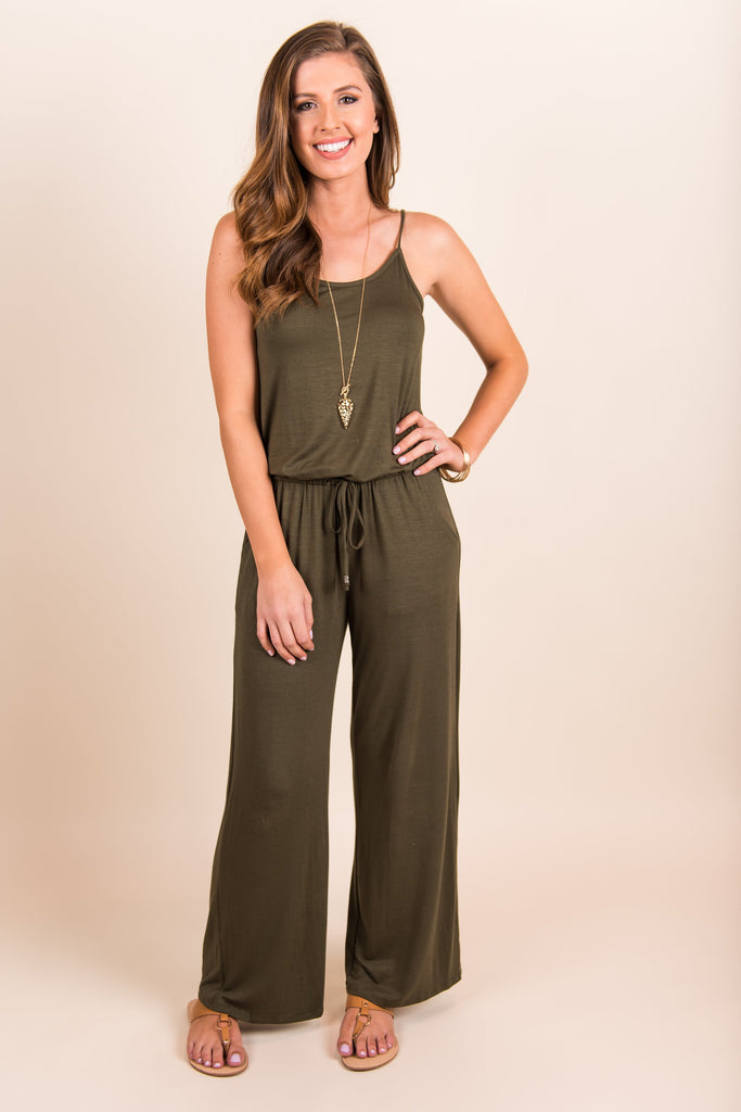 Reliably Fab Jumpsuit, Olive