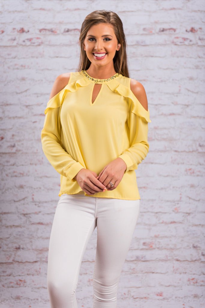 Divine Intervention Blouse, Yellow