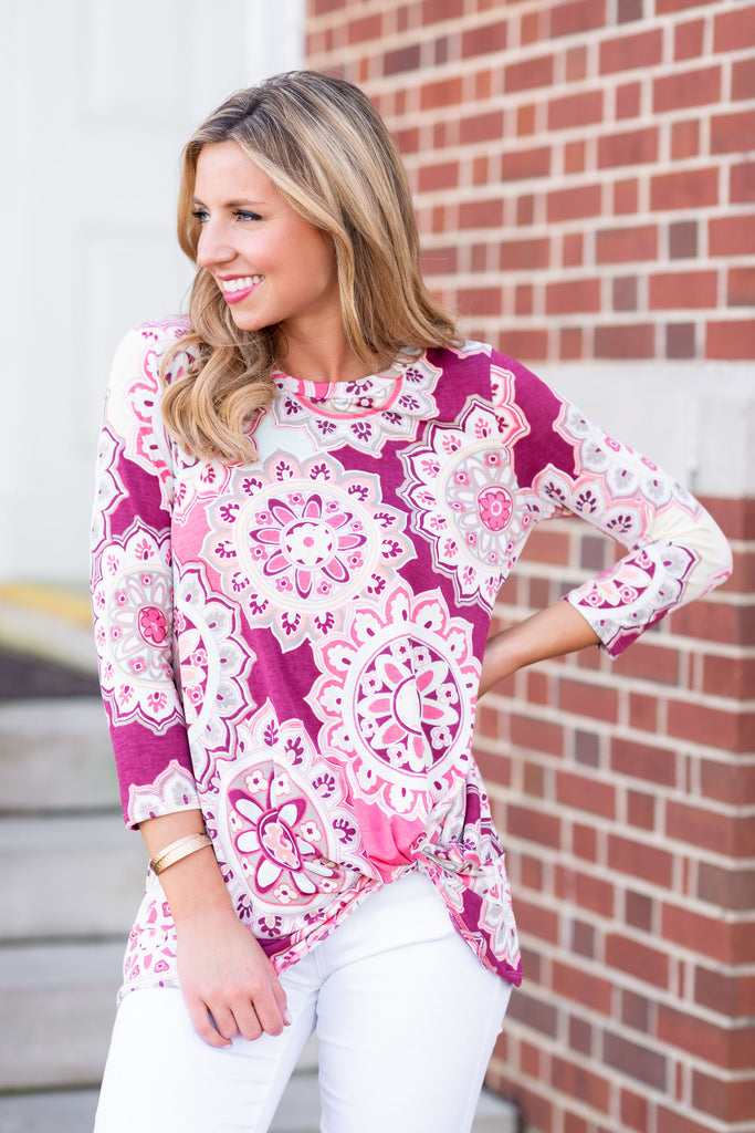 Forever Fun Knot Top, Mauve