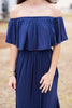 Beauty In Barbados Navy Blue Maxi Dress