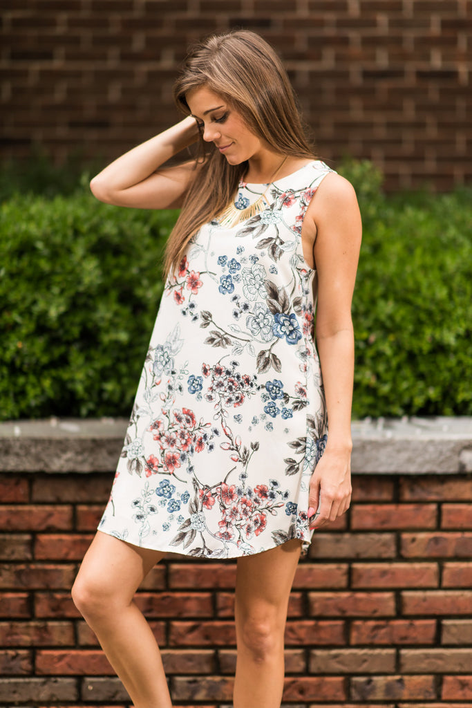 Flower Power Dress, Ivory