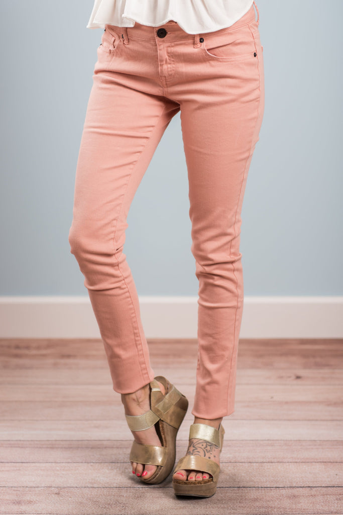 What A Thrill Skinny Jeans, Dusty Pink