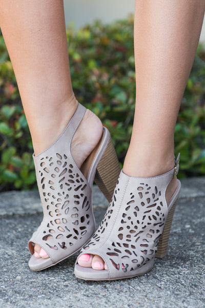 For The Thrill Of It Heels, Taupe