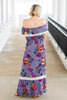 Record Beauty Maxi Dress, Lilac Gray