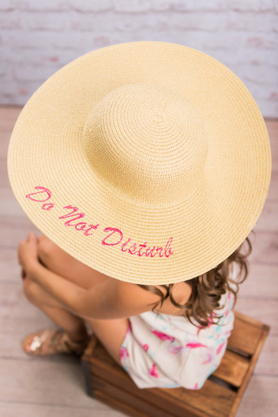 Do Not Disturb Hat, Natural