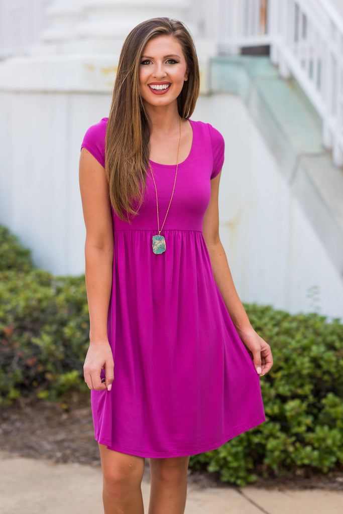 Couldn't Love You More Dress, Fuchsia