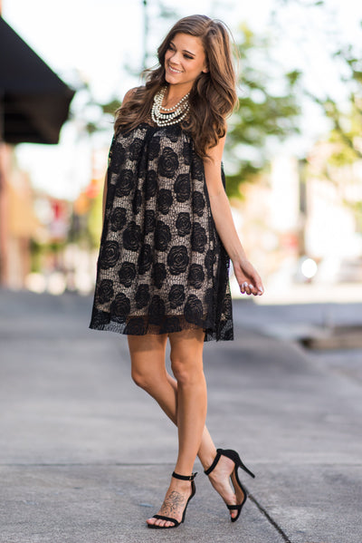 The Lacey Dress, Black