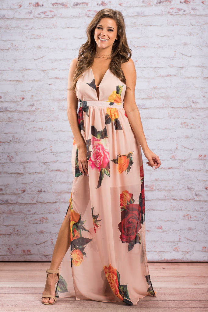 Party In Paradise Maxi Dress, Blush