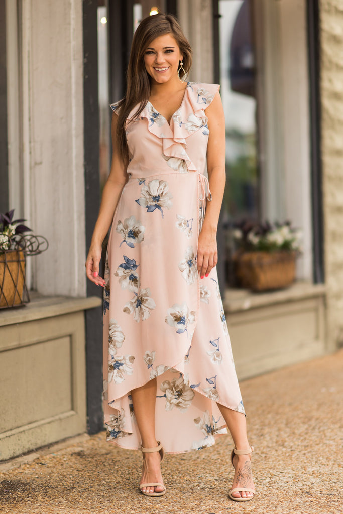 All About The Romance Maxi Dress, Light Pink