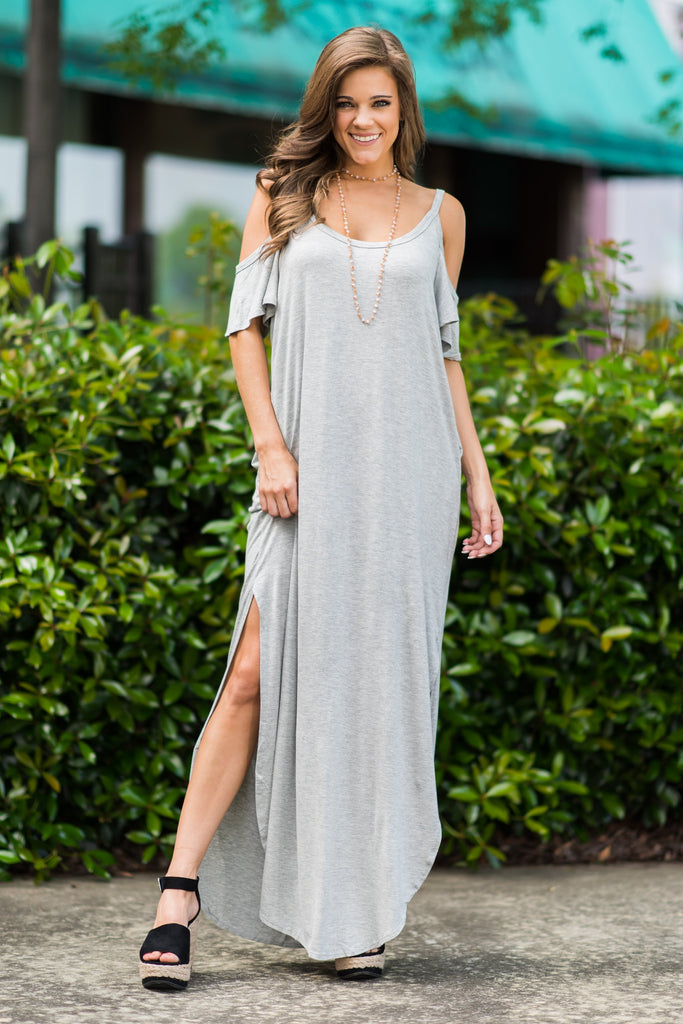 Close To Your Heart Maxi Dress, Heather Gray