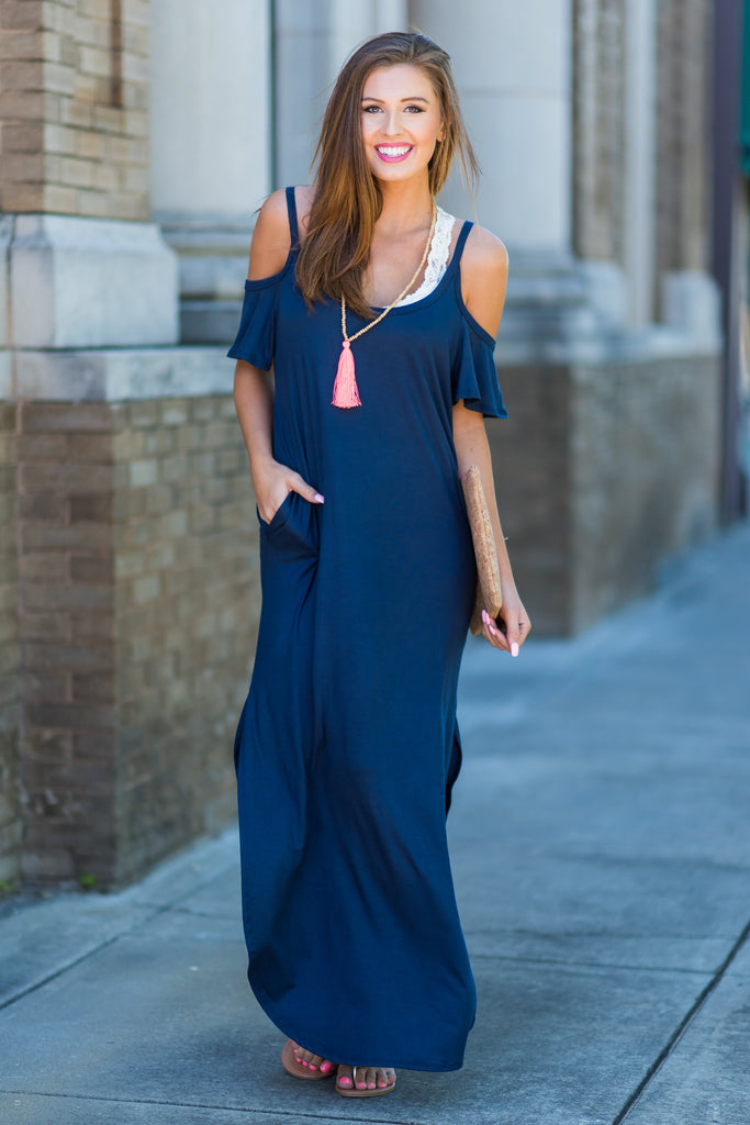 Close To Your Heart Maxi Dress, Navy