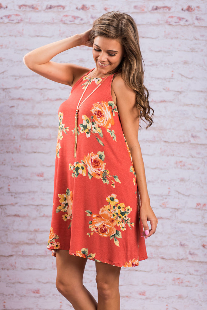 Spring Nights Dress, Terracotta