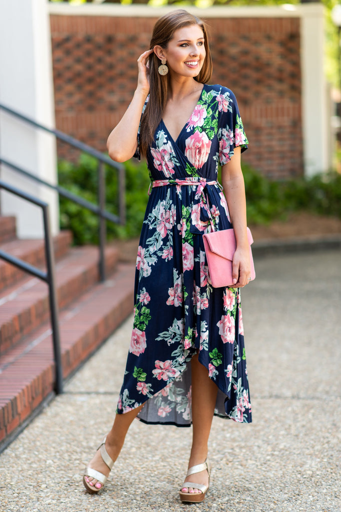 Faith In Flowers Maxi Dress, Navy