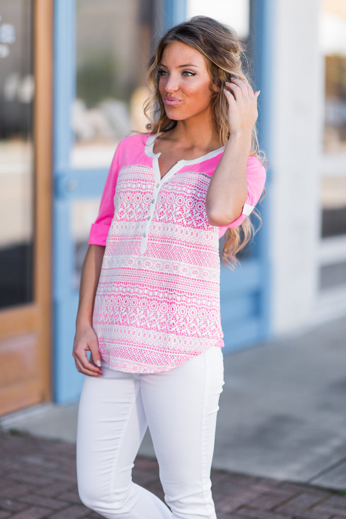 Bright Inspiration Top, Neon Pink
