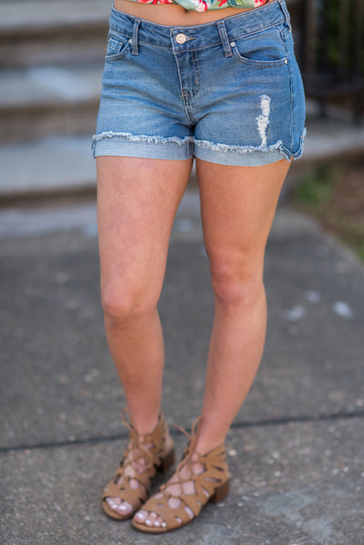 Summer Vibes Shorts, Dark Denim