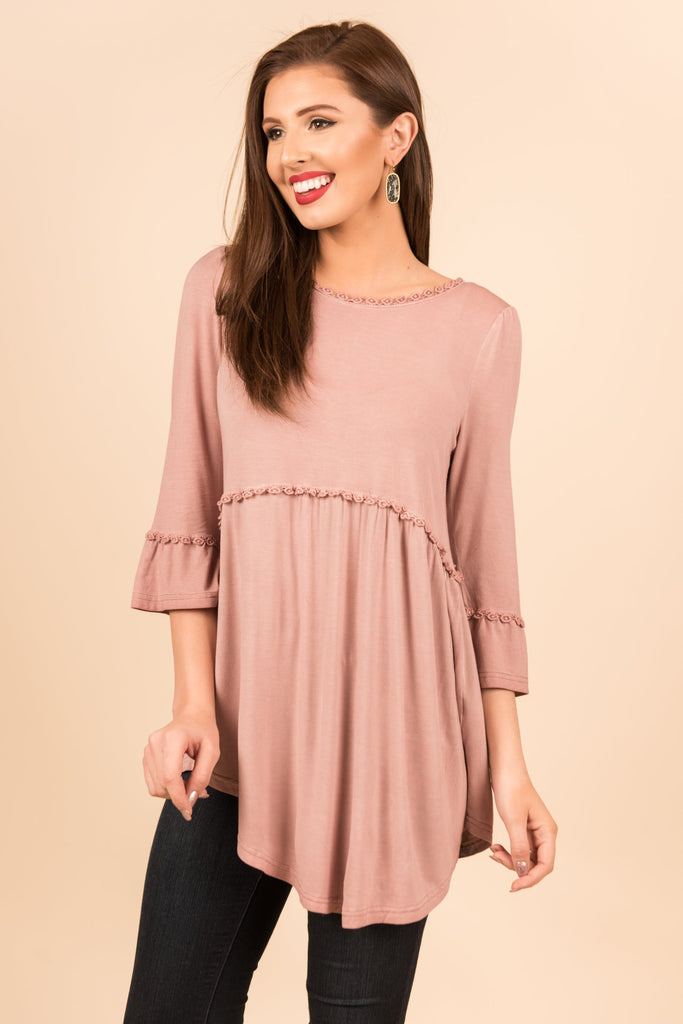 Flower Child Top, Mauve