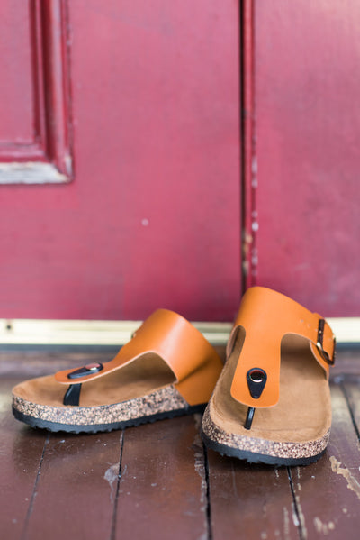 The Perfect Game Plan Sandals, Cognac