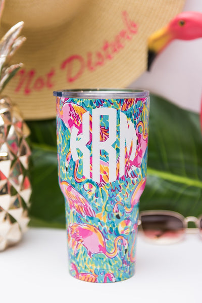 Cool For The Summer Tumbler, Flamingo