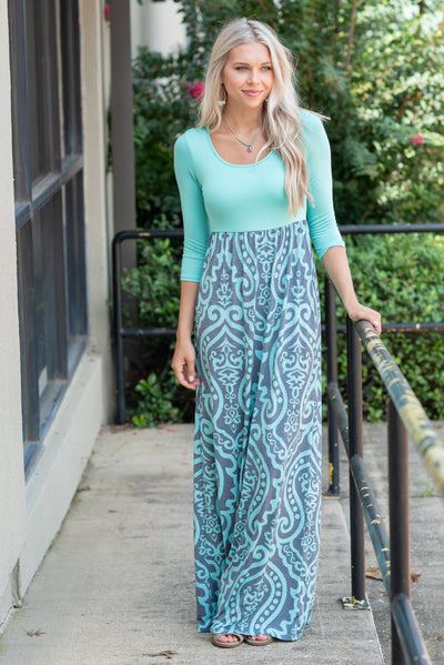 Never Too Busy Maxi Dress, Mint