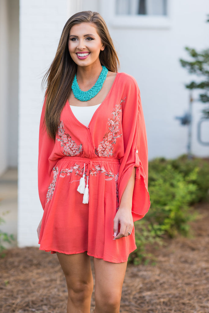 Island Love Dress, Orange