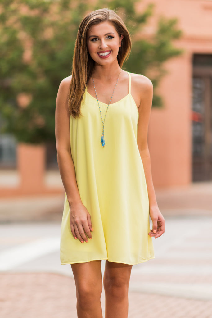 Promise Of Paradise Dress, Yellow