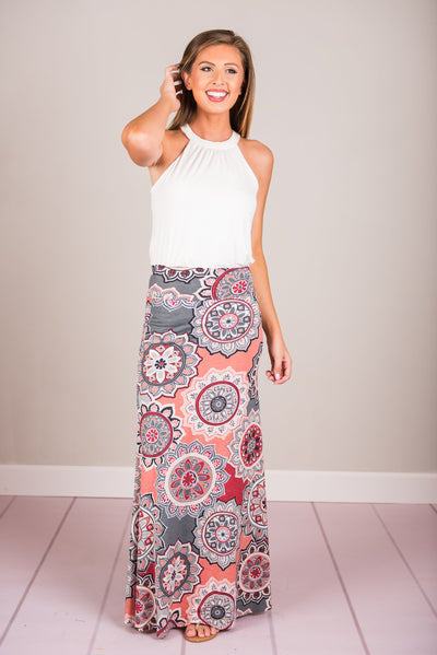 Forever Fun Maxi Skirt, Charcoal