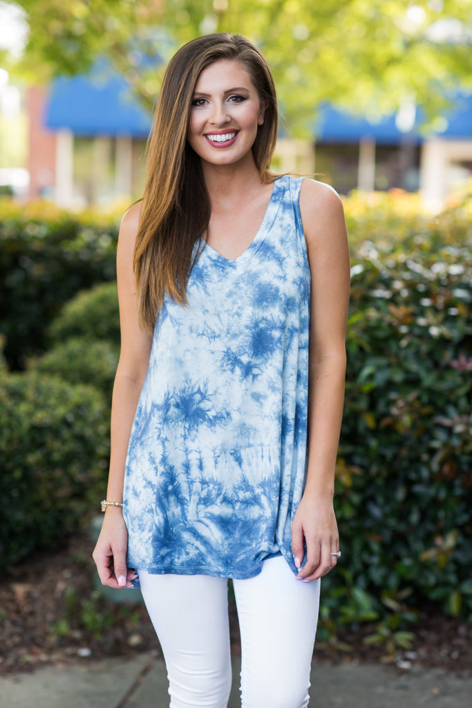 Happy Daze Top, Indigo