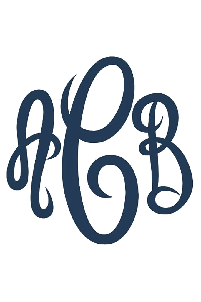 7 Inch Monogrammed Decal Sticker