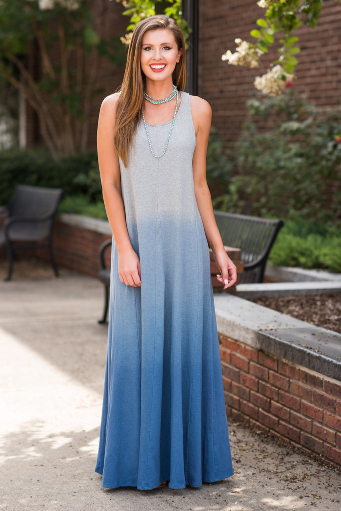 Fade To Reality Maxi Dress, Cool Gray