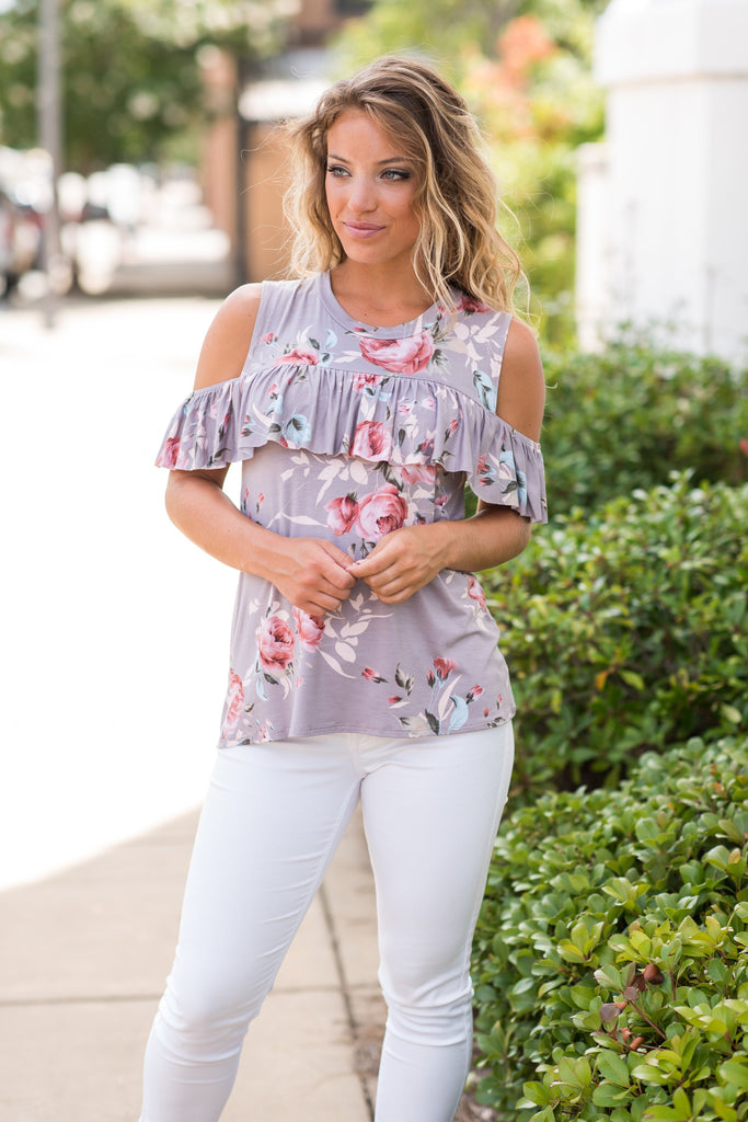 Perfectly Posh Top, Taupe