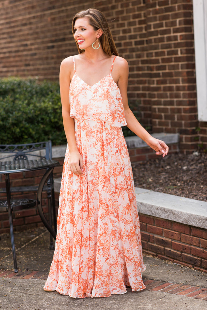 Living In A Dream Maxi Dress, Rust
