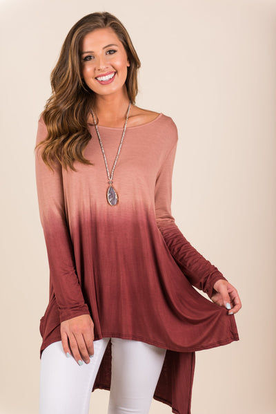 Only In Ombre Tunic, Rust