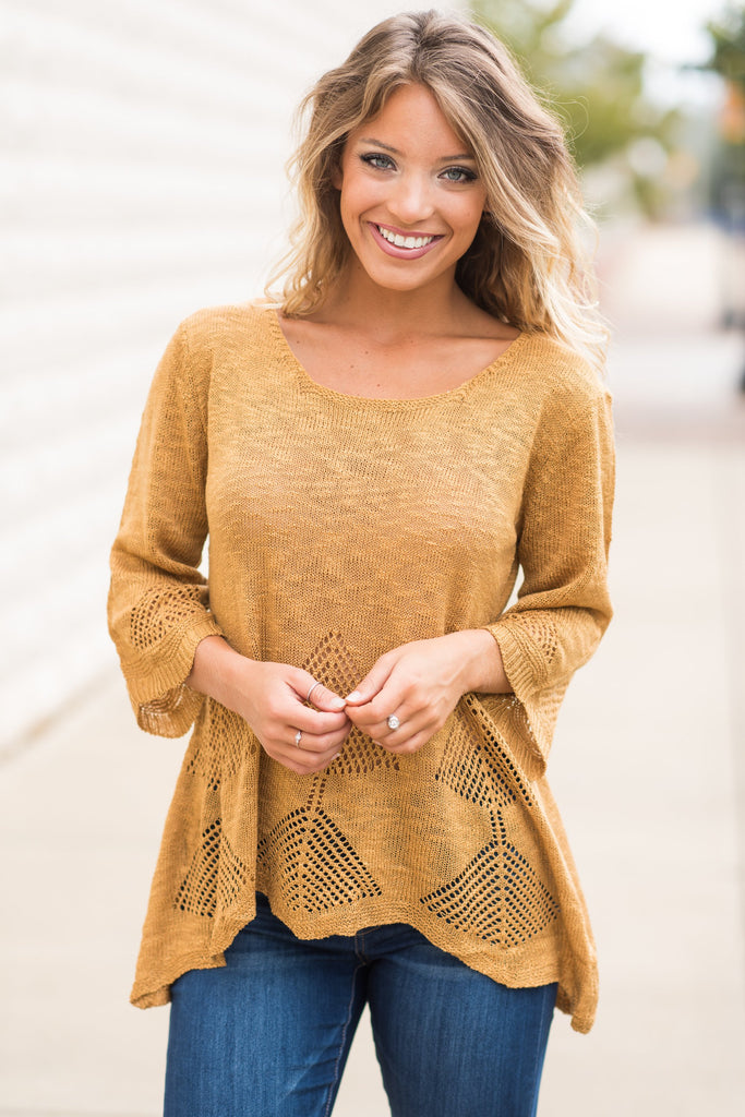 Warming Up Sweater, Gold