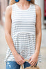 Visualized Comfort Cool Gray Striped Tank