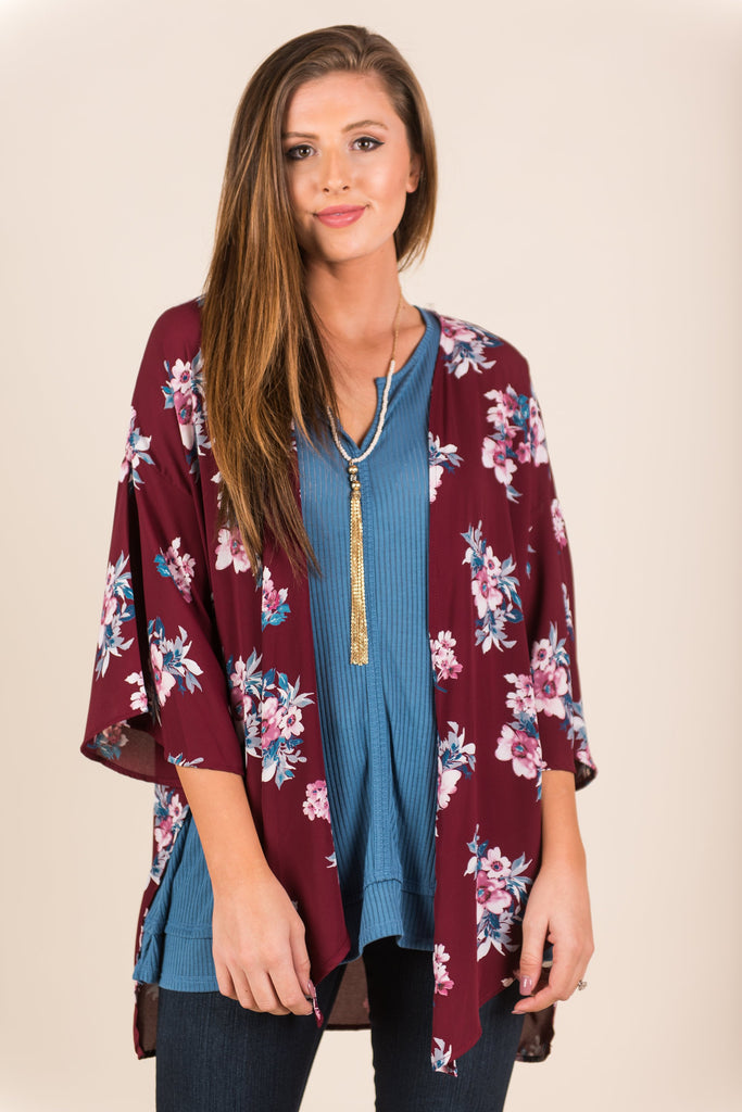 Live For The Fun Kimono, Wine