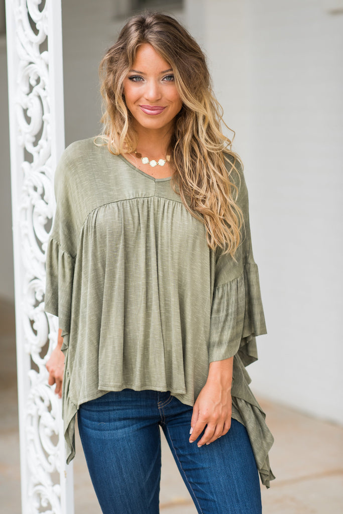 For The Frill Top, Sage