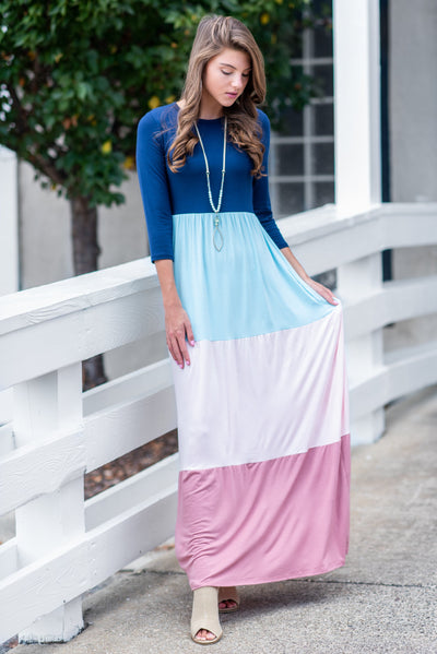 You're The Best Maxi Dress, Navy-Mauve