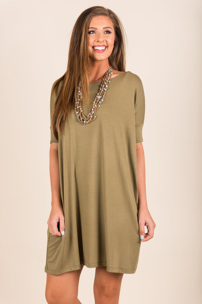 Dare To Dream Dress, Olive