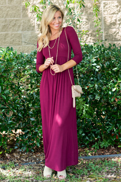 Always Be Mine Maxi Dress, Maroon