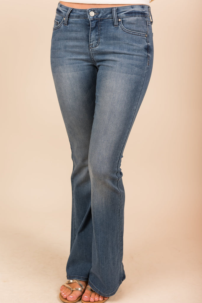 If It Makes You Happy Flare Jeans, Dark Denim